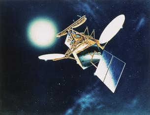 チャレンジャー号から打ち上げられた人工衛星の写真素材 [FYI03202016]