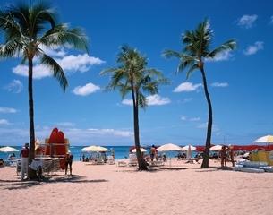ワイキキビーチの風景 ホノルル ハワイの写真素材 [FYI03202154]