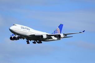 ジェット機 UNITED航空 ジャンボ機の写真素材 [FYI03202684]
