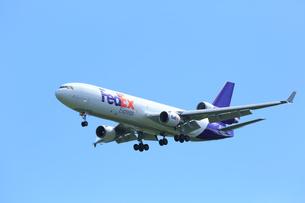 ジェット機 FedEX航空 貨物の写真素材 [FYI03202689]