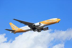 ジェット旅客機 scoot航空の写真素材 [FYI03202905]