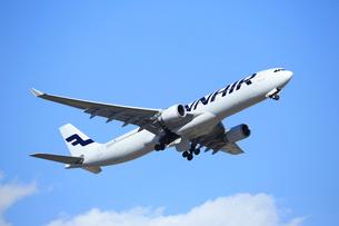 ジェット旅客機 フィンランド航空の写真素材 [FYI03202907]
