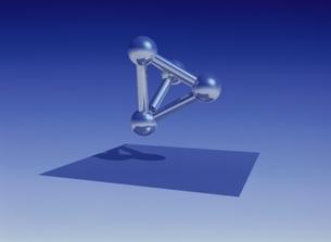三角すいの骨組み CGの写真素材 [FYI03203006]