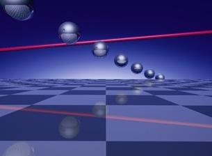 並ぶ球体と線 CGのイラスト素材 [FYI03203017]