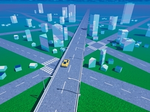 未来の都市イメージ CGのイラスト素材 [FYI03203082]