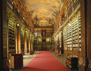 哲学の間 図書館内部 チェコの写真素材 [FYI03203502]