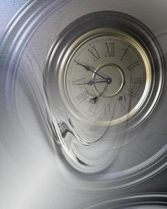 時計の文字盤とゆがみの合成 CGのイラスト素材 [FYI03203807]