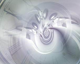 時計の文字盤と渦の合成 CGのイラスト素材 [FYI03203811]