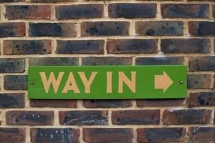 入り口の標識(WAY IN) イギリスの写真素材 [FYI03203886]