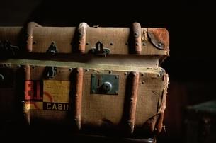 古びたトランク アップの写真素材 [FYI03203919]