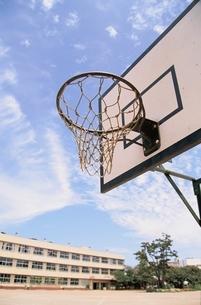 校庭のバスケットゴールの写真素材 [FYI03203991]