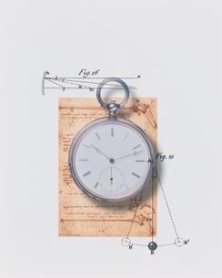 懐中時計と図式の写真素材 [FYI03206095]