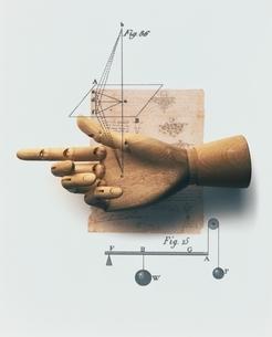 手の模型と図式の写真素材 [FYI03206096]