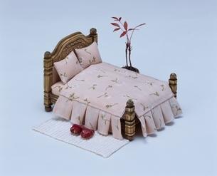 ミニチュアのベッドルーム クラフトの写真素材 [FYI03206330]