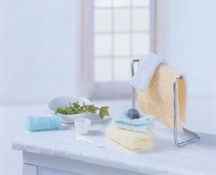 ミニチュアの洗面道具 クラフトの写真素材 [FYI03206339]