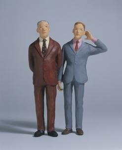 2人のビジネスマン クラフトの写真素材 [FYI03206387]