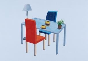 リビングのテーブルといす イラストのイラスト素材 [FYI03206424]