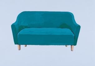 緑色のソファ イラストのイラスト素材 [FYI03206428]