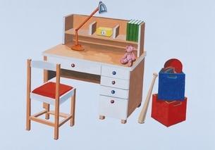 子供部屋の机 イラストのイラスト素材 [FYI03206429]