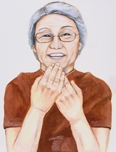 日本人の老人女性 イラストのイラスト素材 [FYI03206448]