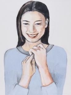 日本人女性 イラストのイラスト素材 [FYI03206456]