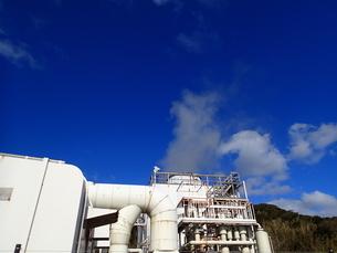 八丈島の地熱発電所の景観の写真素材 [FYI03207056]