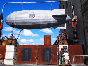 スチームパンク 飛行船の写真素材 [FYI03207118]