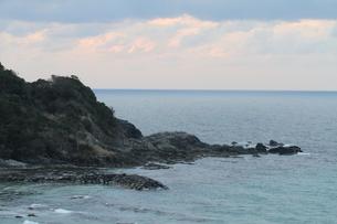 三隅から眺める日本海の夕暮れの写真素材 [FYI03207782]