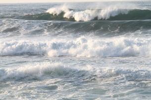 日本海の波の写真素材 [FYI03207909]