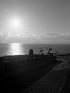 北の島の夕暮れの写真素材 [FYI03208005]