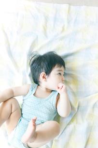 上を見上げる男の子の写真素材 [FYI03212804]