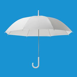 半透明のビニール傘の写真素材 [FYI03213730]