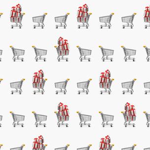 ショッピングカートのパターンの写真素材 [FYI03213747]