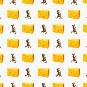 チーズのパターンのイラスト素材 [FYI03213756]