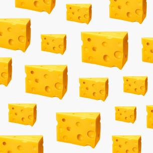 チーズのパターンのイラスト素材 [FYI03213774]