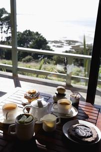朝食のある風景の写真素材 [FYI03214335]