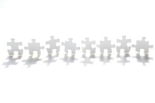 白いパズルの写真素材 [FYI03214363]