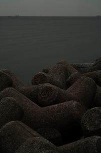 東京湾とテトラポットの写真素材 [FYI03215276]