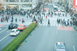 スクランブル交差点を歩く人々の写真素材 [FYI03215424]