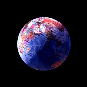 ペルシャ絨毯で作った地球儀の写真素材 [FYI03215806]