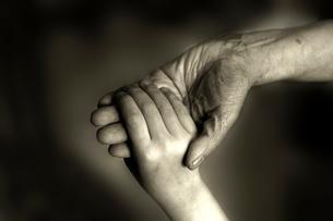 老婆と幼児の手の写真素材 [FYI03215842]