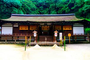 宇治上神社拝殿の写真素材 [FYI03216299]