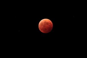 皆既月食の写真素材 [FYI03216459]