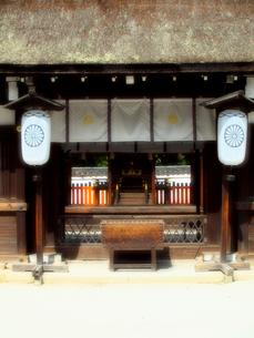 下鴨神社の葵生殿の写真素材 [FYI03216587]