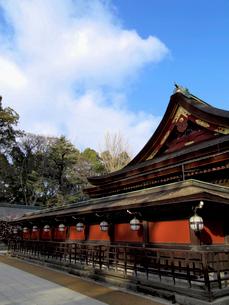北野天満宮社殿と青空の写真素材 [FYI03216596]