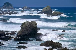 黒潮洗う荒船海岸の写真素材 [FYI03217072]