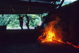 紀州の備長炭窯出しの写真素材 [FYI03217079]