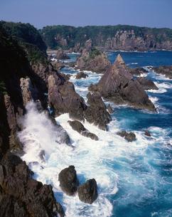 黒潮洗う大島海金剛の写真素材 [FYI03217085]