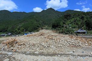 台風12号による那智川への土石流の写真素材 [FYI03217164]
