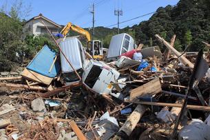 台風12号による那智川の水害の写真素材 [FYI03217166]